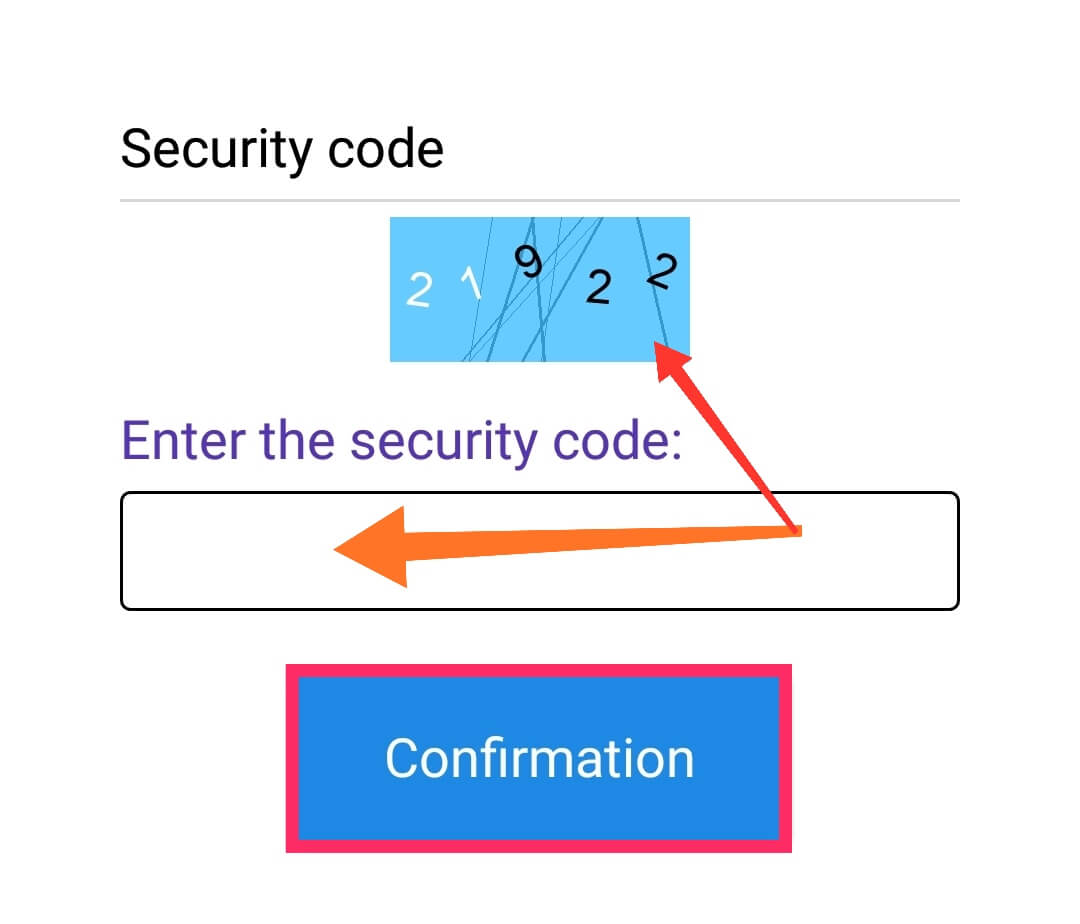 Enter the Security Code