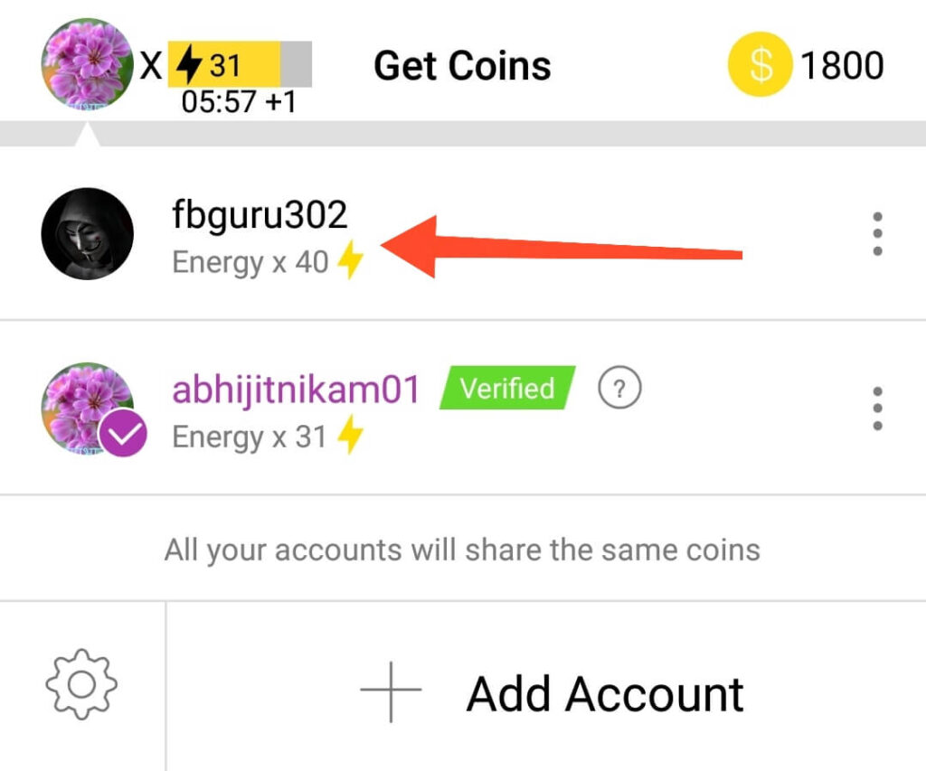 Select Real Instagram Account