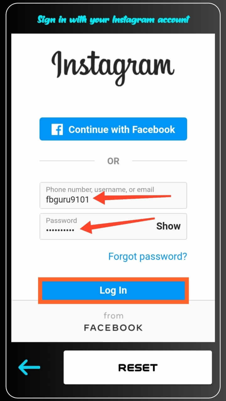 Login Your Fake Instagram Account Into VipFollower App