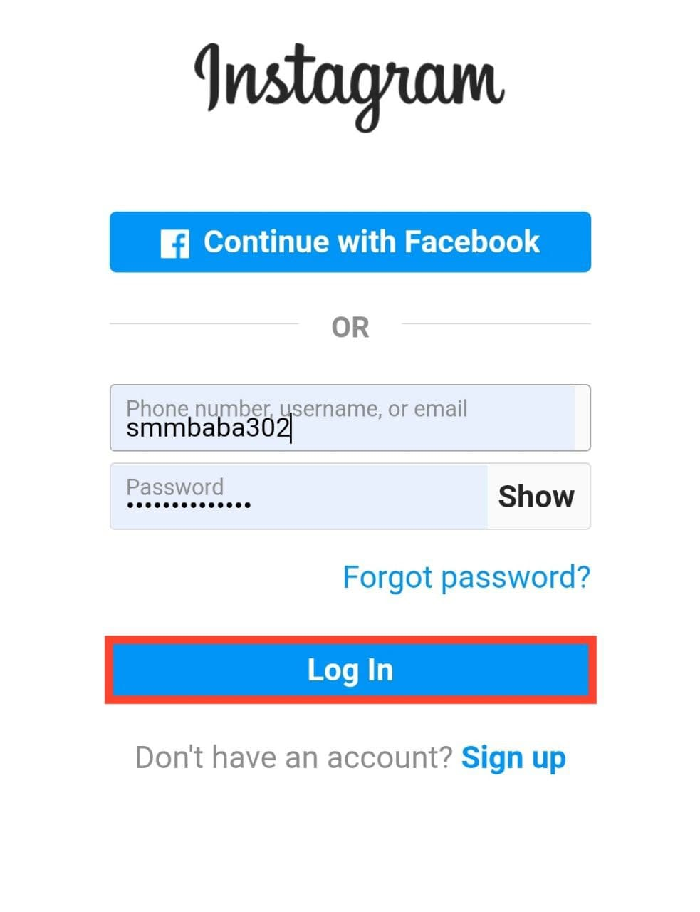 Login your account into TurboFollower App